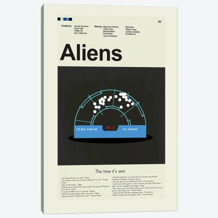 Aliens Canvas Print #PAG147} by Prints and Giggles by Erin Hagerman Canvas Art Print