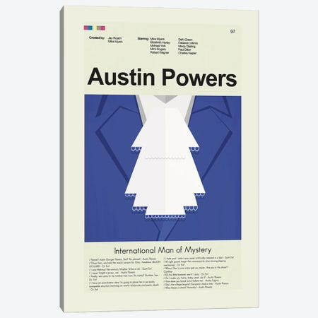 Austin Powers: International Man of Mystery Canvas Print #PAG148} by Prints and Giggles by Erin Hagerman Canvas Artwork