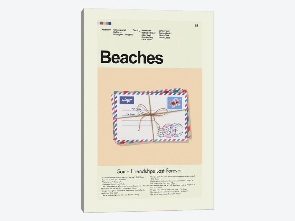 Beaches by Prints and Giggles by Erin Hagerman 1-piece Canvas Wall Art