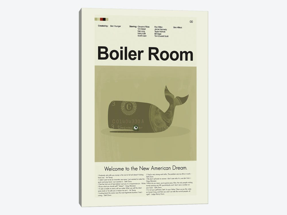 Boiler Room by Prints and Giggles by Erin Hagerman 1-piece Canvas Wall Art