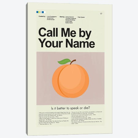 Call Me By Your Name Canvas Print #PAG157} by Prints and Giggles by Erin Hagerman Canvas Wall Art