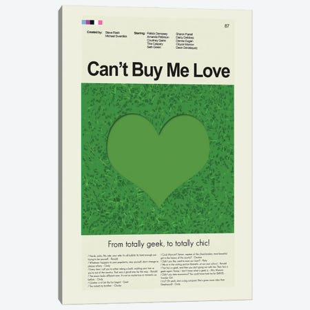 Can't Buy Me Love Canvas Print #PAG158} by Prints and Giggles by Erin Hagerman Art Print