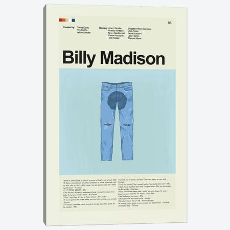 Billy Madison Canvas Print #PAG15} by Prints and Giggles by Erin Hagerman Art Print