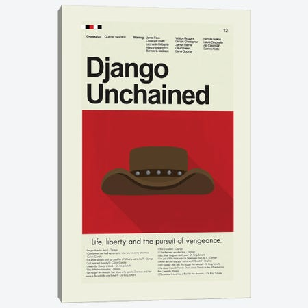 Django Unchained Canvas Print #PAG161} by Prints and Giggles by Erin Hagerman Canvas Wall Art
