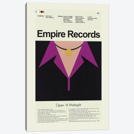 Empire Records Canvas Print #PAG162} by Prints and Giggles by Erin Hagerman Canvas Artwork