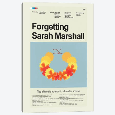 Forgetting Sarah Marshall Canvas Print #PAG166} by Prints and Giggles by Erin Hagerman Canvas Print