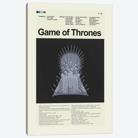 Game of Thrones Canvas Print #PAG168} by Prints and Giggles by Erin Hagerman Canvas Art