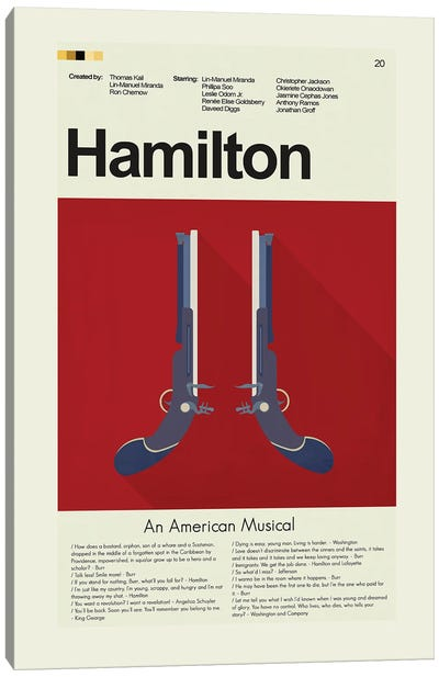 Hamilton Canvas Art Print