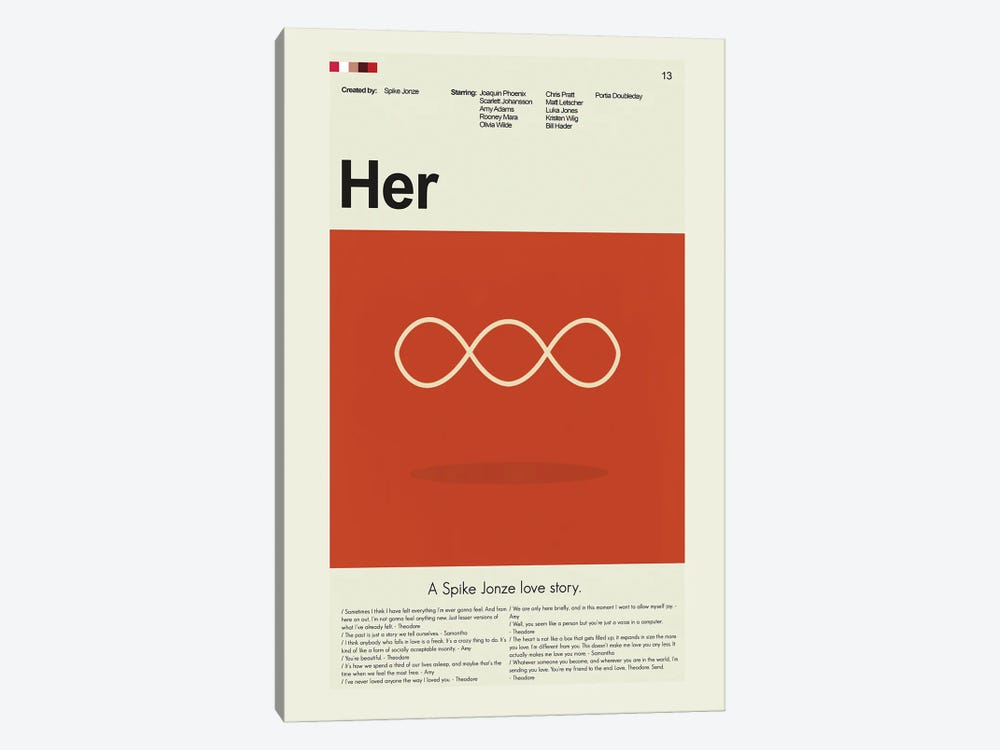 Her by Prints and Giggles by Erin Hagerman 1-piece Canvas Artwork