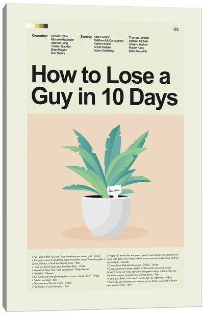 How to Lose a Guy in 10 Days Canvas Art Print