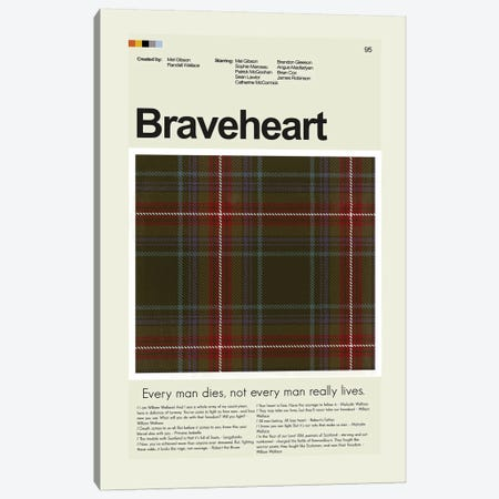 Braveheart Canvas Print #PAG17} by Prints and Giggles by Erin Hagerman Canvas Art Print