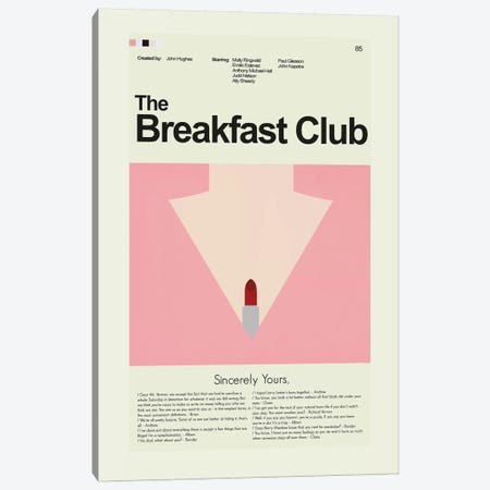 Breakfast Club Canvas Print #PAG18} by Prints and Giggles by Erin Hagerman Canvas Artwork