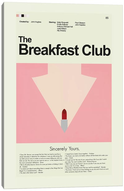 Breakfast Club Canvas Art Print