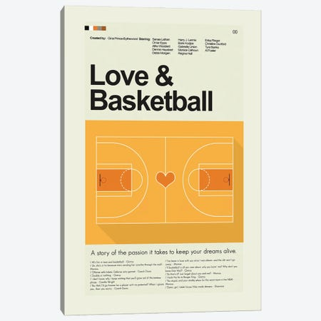 Love & Basketball Canvas Print #PAG190} by Prints and Giggles by Erin Hagerman Art Print