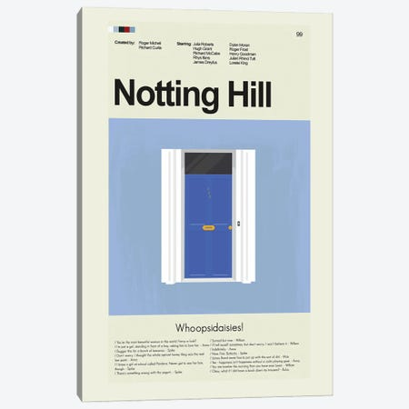 Notting Hill Canvas Print #PAG198} by Prints and Giggles by Erin Hagerman Canvas Print