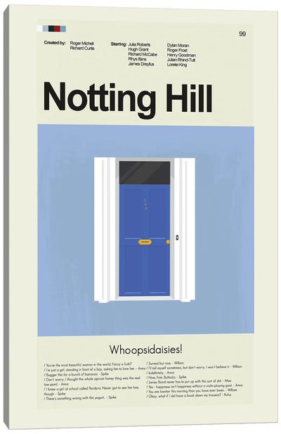 Notting Hill Canvas Art Print