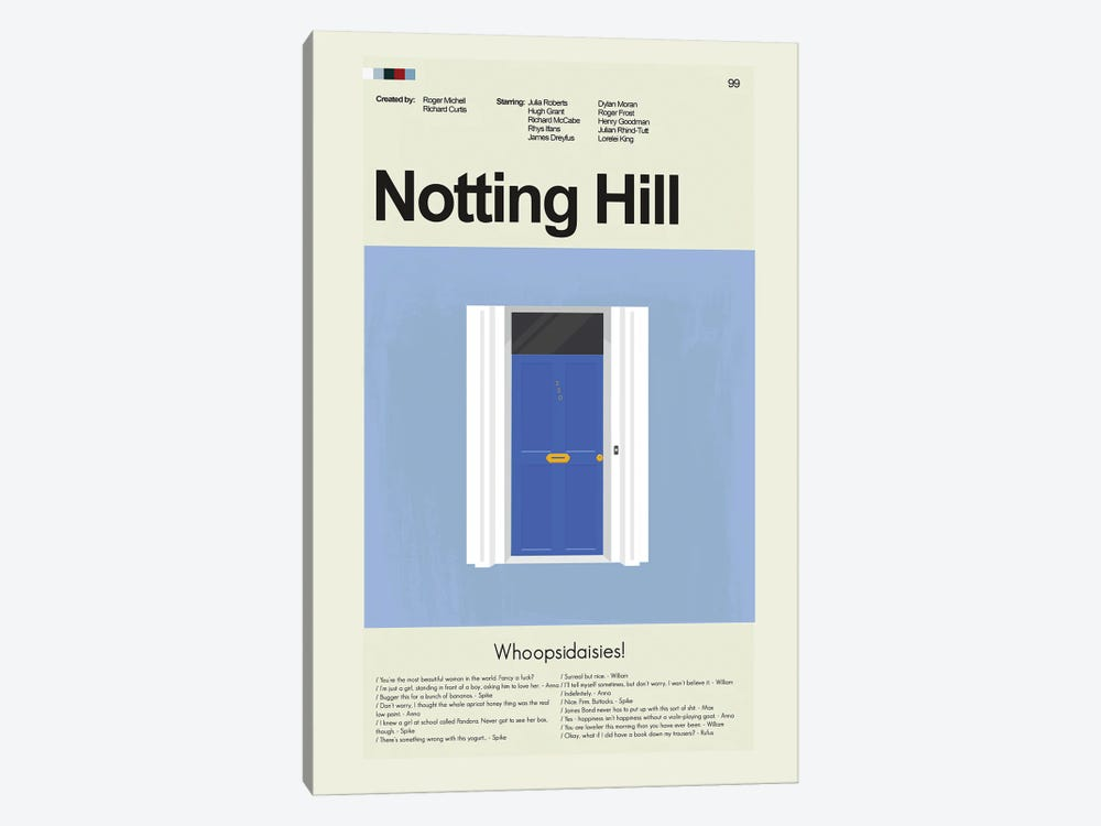 Notting Hill by Prints and Giggles by Erin Hagerman 1-piece Canvas Artwork