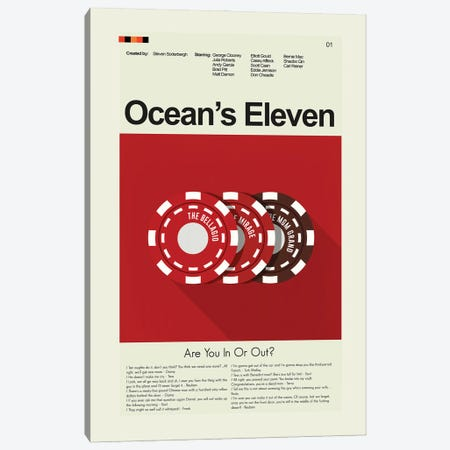Oceans Eleven Canvas Print #PAG199} by Prints and Giggles by Erin Hagerman Canvas Art Print