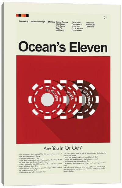 Oceans Eleven Canvas Art Print