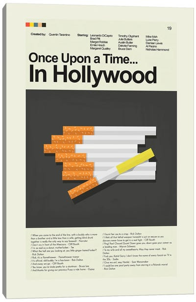 Once Upon a Time... In Hollywood Canvas Art Print