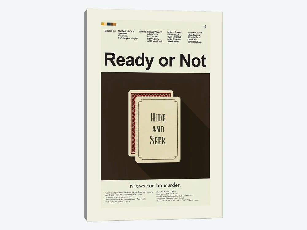 Ready or Not by Prints and Giggles by Erin Hagerman 1-piece Canvas Art