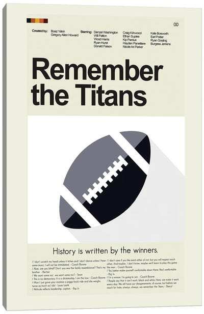 Remember the Titans Canvas Art Print