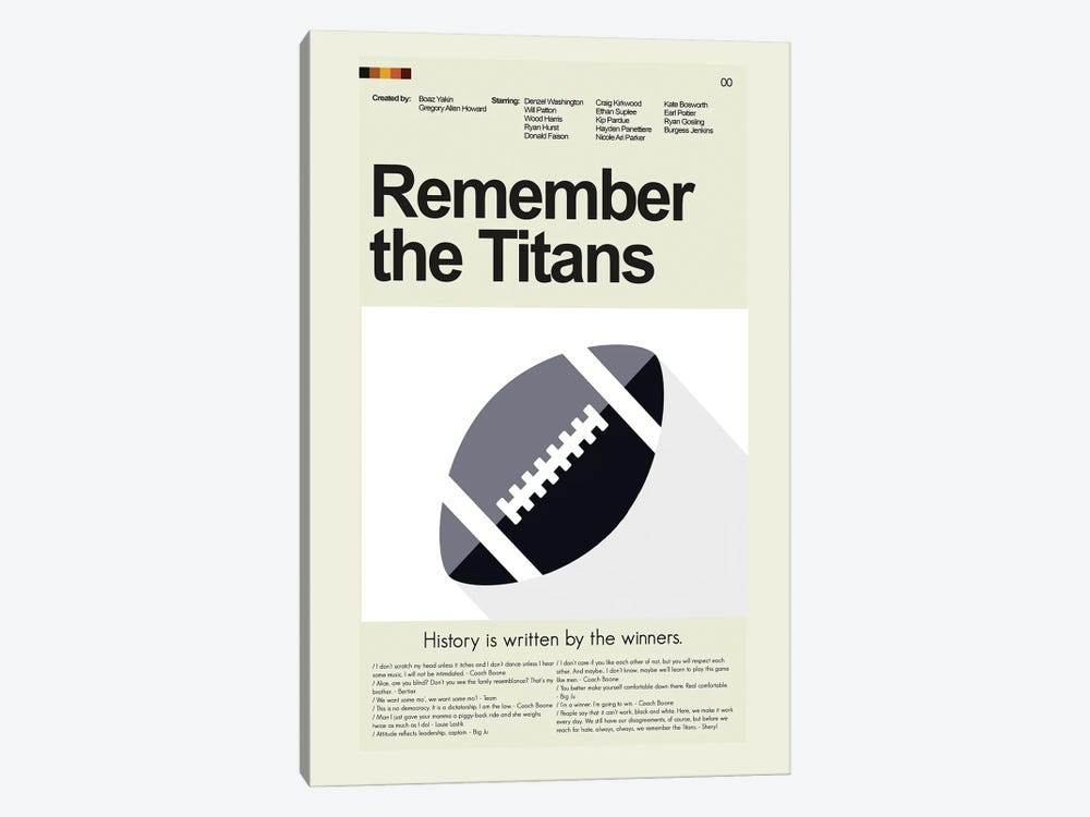 Remember the Titans by Prints and Giggles by Erin Hagerman 1-piece Art Print