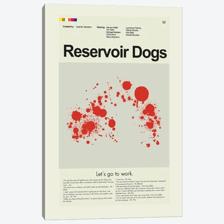 Reservoir Dogs Canvas Print #PAG207} by Prints and Giggles by Erin Hagerman Canvas Artwork