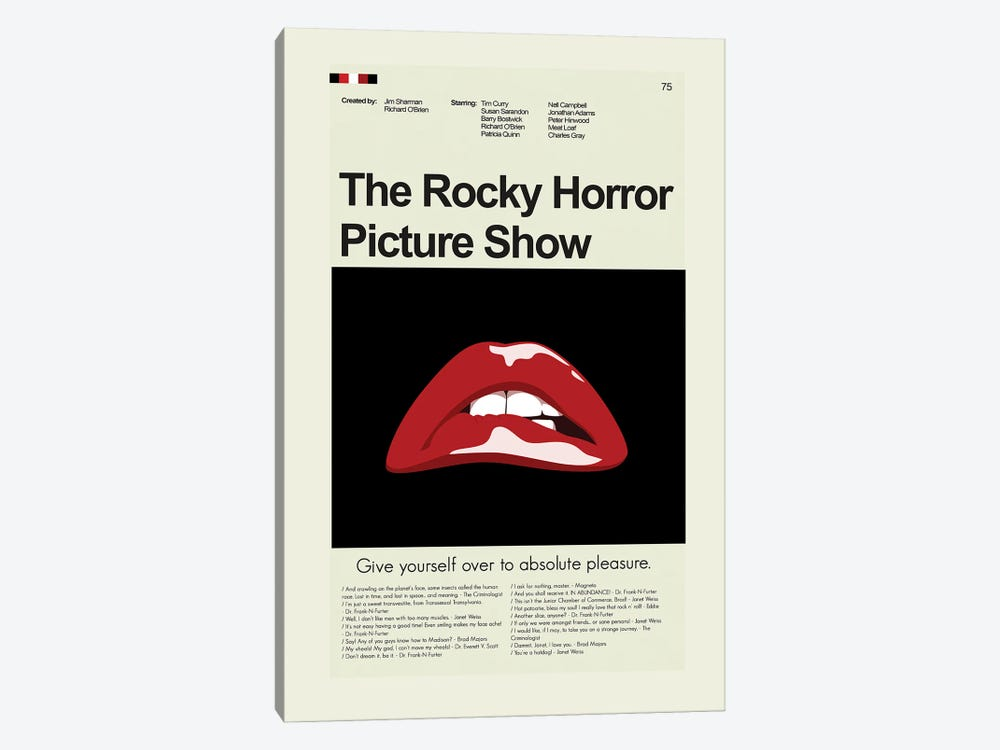 Rocky Horror Picture Show by Prints and Giggles by Erin Hagerman 1-piece Canvas Print