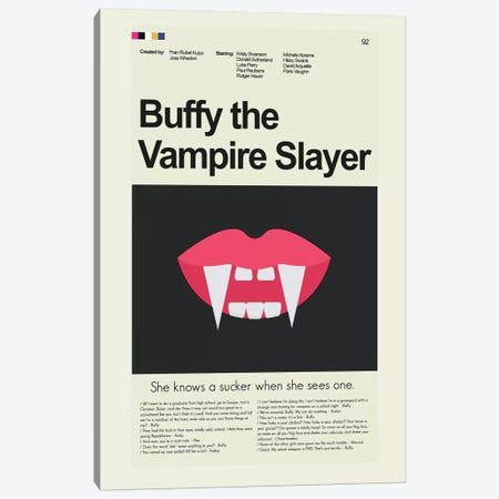 Buffy The Vampire Slayer 3-Piece Canvas #PAG20} by Prints and Giggles by Erin Hagerman Art Print