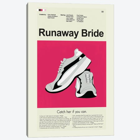 Runaway Bride Canvas Print #PAG210} by Prints and Giggles by Erin Hagerman Canvas Artwork