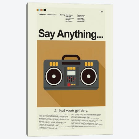 Say Anything Canvas Print #PAG211} by Prints and Giggles by Erin Hagerman Canvas Wall Art