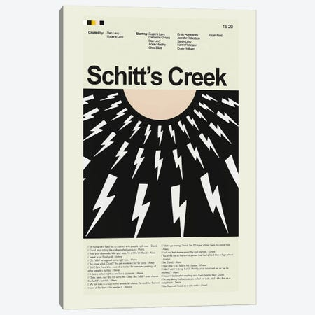 Schitt's Creek Canvas Print #PAG213} by Prints and Giggles by Erin Hagerman Canvas Art
