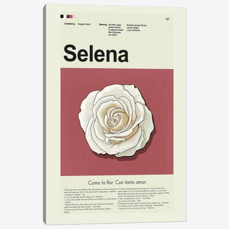 Selena Canvas Print #PAG214} by Prints and Giggles by Erin Hagerman Canvas Art Print
