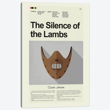 Silence of the Lambs Canvas Print #PAG216} by Prints and Giggles by Erin Hagerman Canvas Art Print
