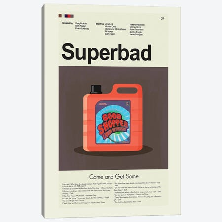 Superbad Canvas Print #PAG218} by Prints and Giggles by Erin Hagerman Canvas Art