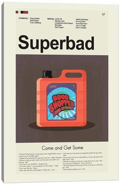 Superbad Canvas Art Print