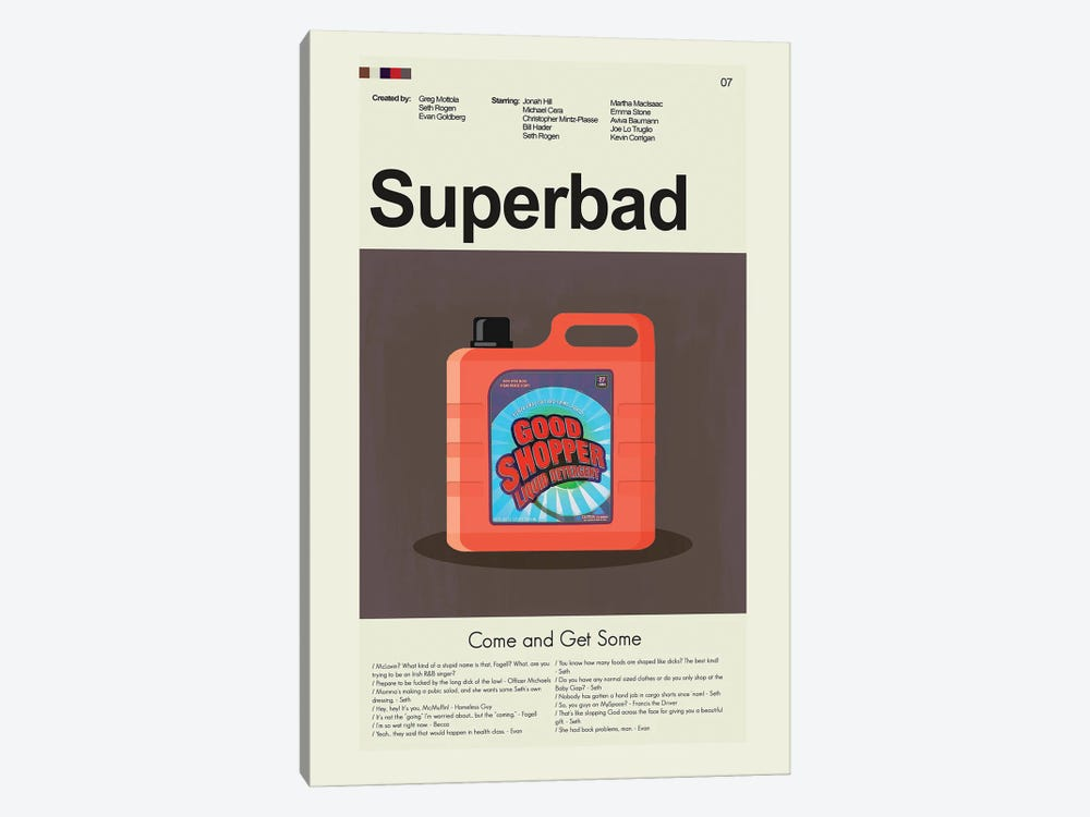 Superbad by Prints and Giggles by Erin Hagerman 1-piece Canvas Art