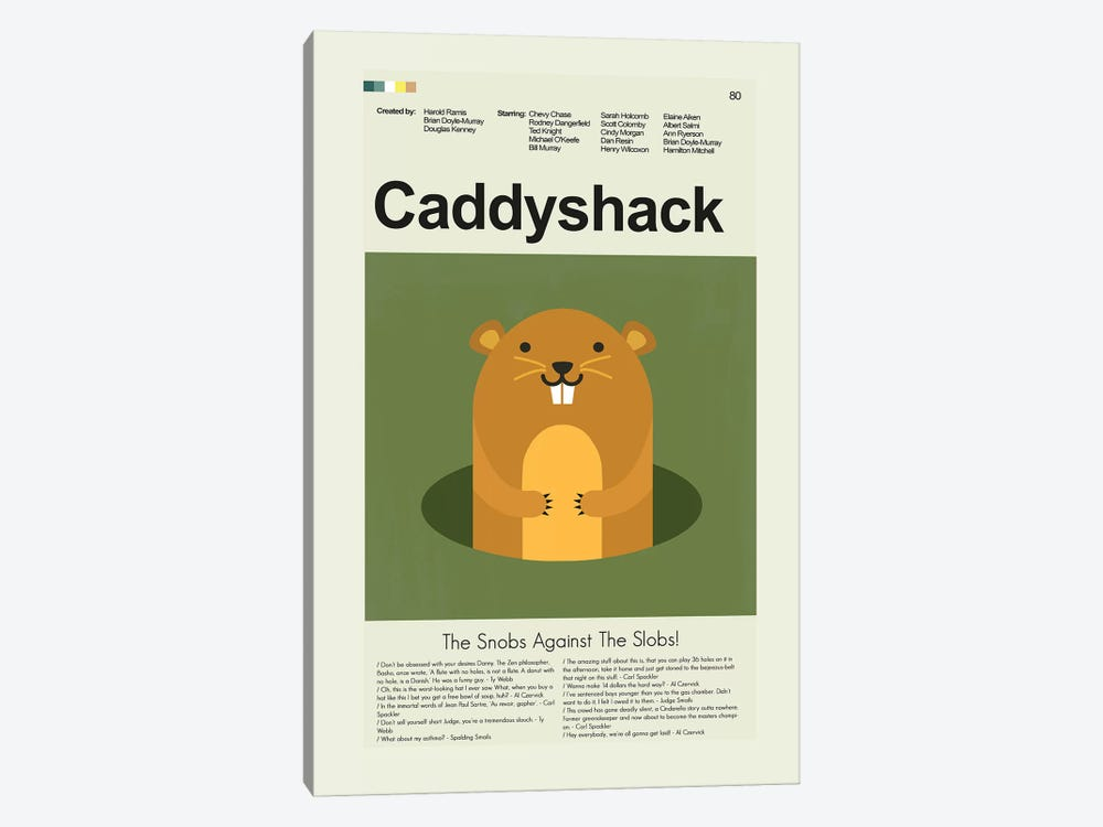 Caddyshack by Prints and Giggles by Erin Hagerman 1-piece Canvas Wall Art
