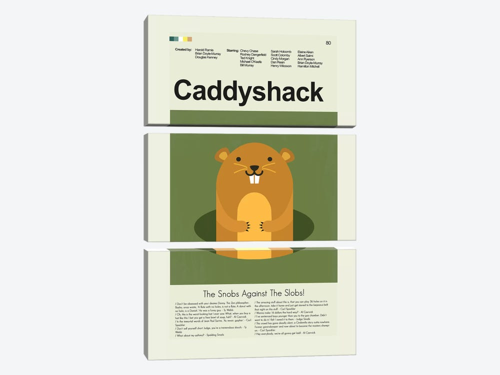 Caddyshack by Prints and Giggles by Erin Hagerman 3-piece Canvas Art