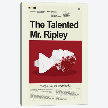 The Talented Mr. Ripley Canvas Print #PAG220} by Prints and Giggles by Erin Hagerman Canvas Print