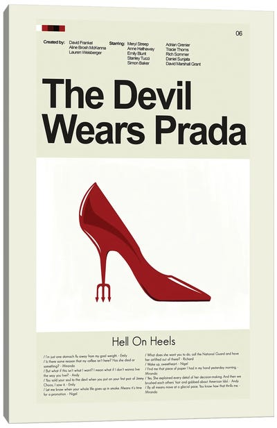 The Devil Wears Prada Canvas Art Print