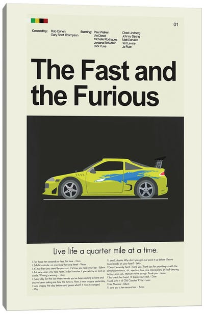The Fast and the Furious Canvas Art Print