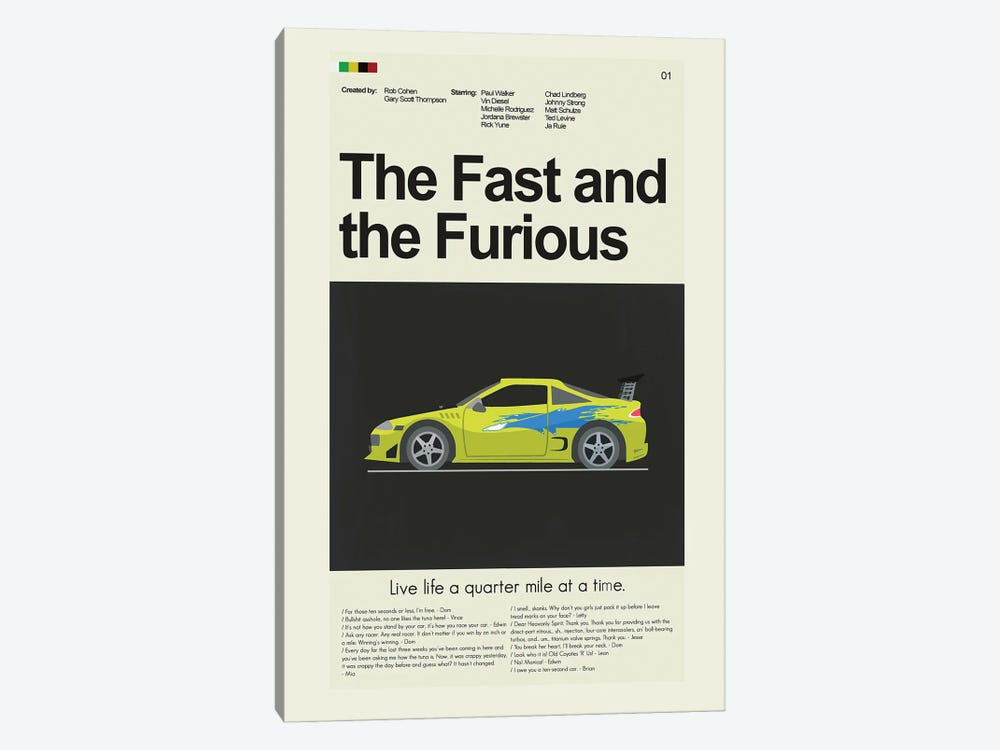 The Fast and the Furious by Prints and Giggles by Erin Hagerman 1-piece Canvas Art