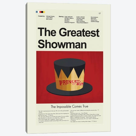 The Greatest Showman Canvas Print #PAG228} by Prints and Giggles by Erin Hagerman Art Print