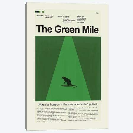 The Green Mile Canvas Print #PAG229} by Prints and Giggles by Erin Hagerman Canvas Print
