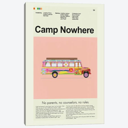 Camp Nowhere Canvas Print #PAG22} by Prints and Giggles by Erin Hagerman Canvas Art Print