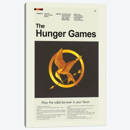 The Hunger Games Canvas Print #PAG230} by Prints and Giggles by Erin Hagerman Canvas Artwork