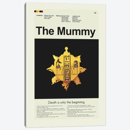 The Mummy Canvas Print #PAG232} by Prints and Giggles by Erin Hagerman Canvas Artwork