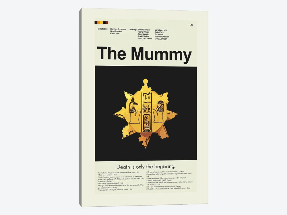 The Mummy by Prints and Giggles by Erin Hagerman 1-piece Canvas Wall Art